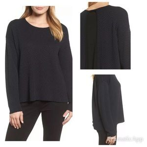 Eileen Fisher layered Sweater Top size XL